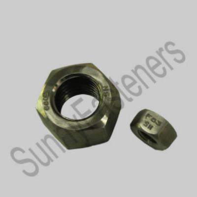 镍基合金材料类六角螺母,零部件产品,连接件,紧固件,,,