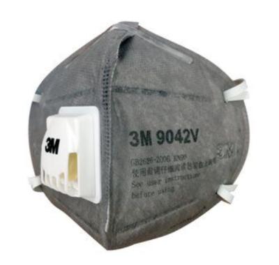 3M 折叠式有机蒸气异味及防颗粒物口罩 9042V KN90 头戴式 带阀 1只