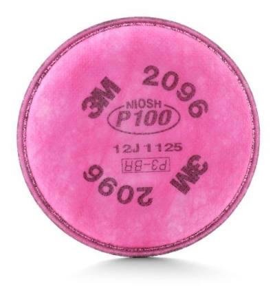 3M 6000/7500/FF-400系列防尘滤棉 2096CN P100/KP100 防护颗粒物及酸性气体异味 1包,工具设备,劳保用品,呼吸防护