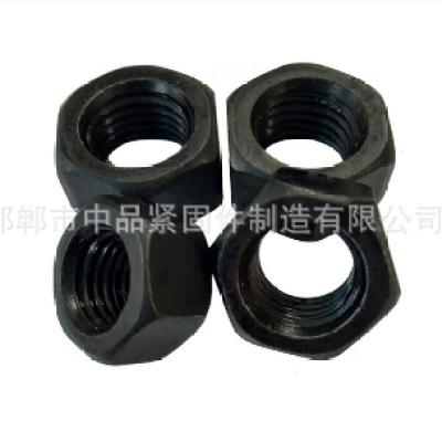 10.9级高强度螺母 m22氧化发黑六角螺帽 国标螺母DIN934