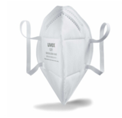 UVEX/优维斯 silv-Air e 1201折叠颗粒物防护口罩 8721201 KN95 耳戴式 1个,工具设备,劳保用品,呼吸防护