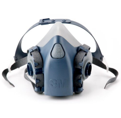 3M 7500硅胶系列呼吸防护半面罩 7502 中号 1个